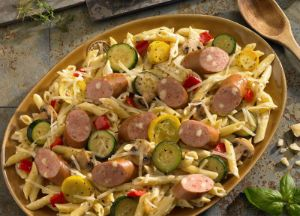 Image of Rustic Pasta Alfredo with Johnsonville Three Cheese Italian Sausage