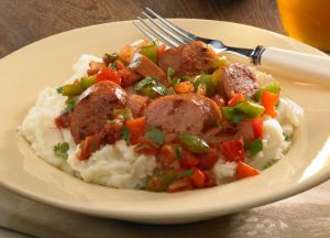 Image of Zesty Sausage and Potato Skillet Dinner